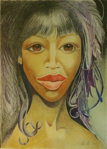06_face_420x585mm_color pencil on paper without frame_RS