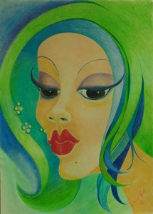 13_face_420x585mm_color pencil on paper without frame_RS